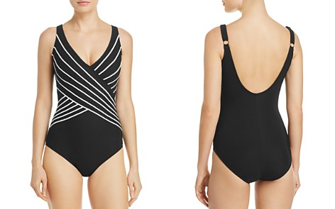 Gottex Embrace Crossover V-Neck One Piece Swimsuit - Bloomingdale's_2