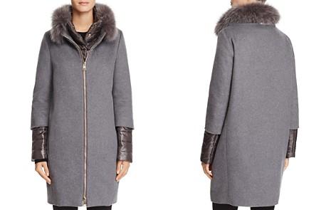 Herno Fox Fur Trim Cashmere Coat - Bloomingdale's_2