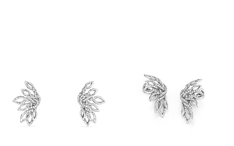 David Yurman Continuance Climber Earrings with Diamonds in 18k White Gold - Bloomingdale's_2