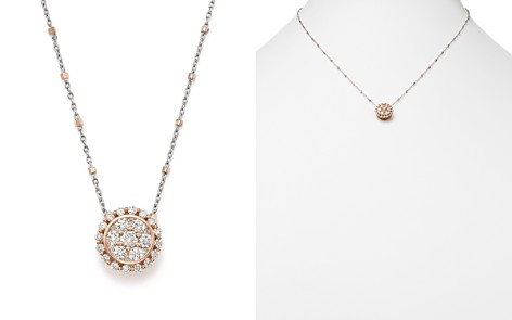 Diamond Pendant Satellite Chain Necklace in 14K Rose and White Gold, .75 ct. t.w. - 100% Exclusive - Bloomingdale's_2