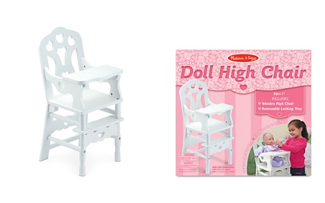 Melissa & Doug Wooden Doll High Chair - Ages 3+ - Bloomingdale's_2