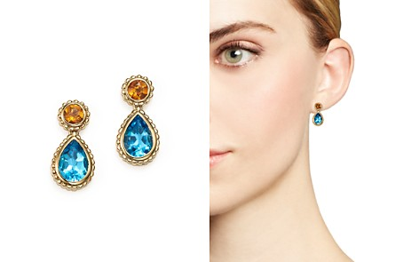 Blue Topaz and Citrine Drop Earrings in 14K Yellow Gold - 100% Exclusive - Bloomingdale's_2
