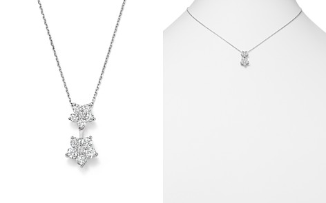 Diamond Flower Pendant Necklace in 14K White Gold, .85 ct. t.w. - 100% Exclusive - Bloomingdale's_2