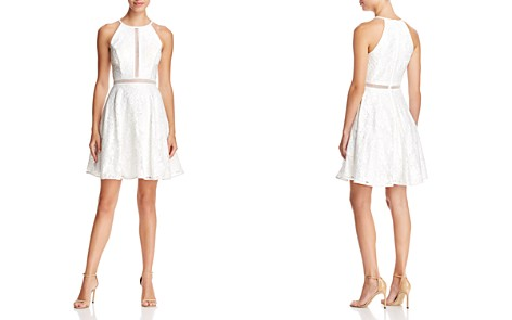 Avery G Illusion-Inset Lace Dress - Bloomingdale's_2