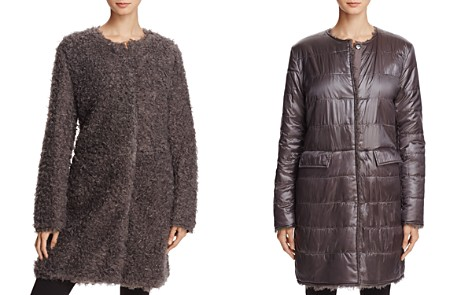 Via Spiga Reversible Lightweight Faux Fur Coat - Bloomingdale's_2