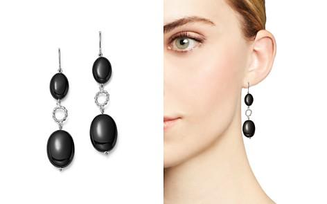 Sterling Silver Double Onyx Drop Earrings - 100% Exclusive - Bloomingdale's_2