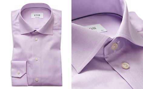 Eton Herringbone Solid Regular Fit Dress Shirt - Bloomingdale's_2
