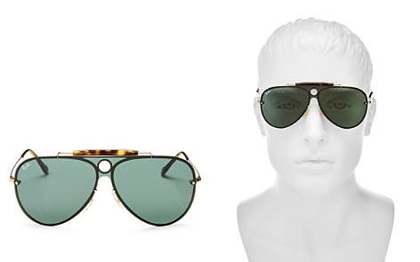 Ray-Ban Blaze Rimless Shooter Aviator Sunglasses, 132mm - Bloomingdale's_2