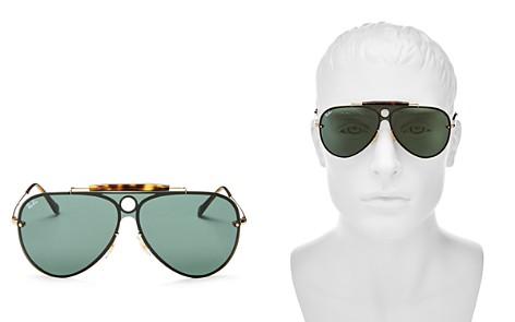 Ray-Ban Blaze Rimless Shooter Aviator Sunglasses, 132mm - Bloomingdale's_2