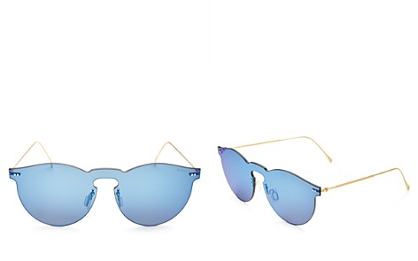 Illesteva Leonard Mask Mirrored Shield Sunglasses, 47mm - Bloomingdale's_2