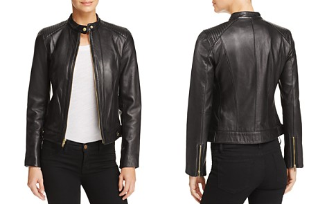 Cole Haan Leather Zip Jacket - Bloomingdale's_2
