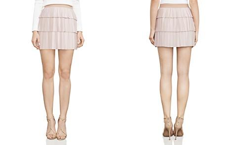 BCBGMAXAZRIA Zana Pleated Mini Skirt - Bloomingdale's_2