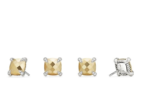 David Yurman Châtelaine Stud Earrings with 18K Gold and Diamonds - Bloomingdale's_2