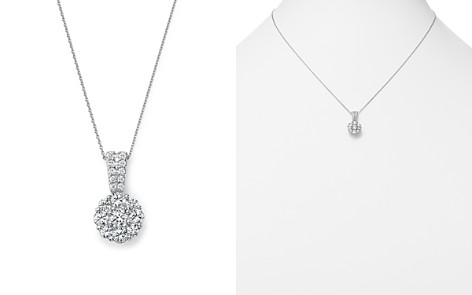 Diamond Flower Cluster Pendant Necklace in 14K White Gold, 1.0 ct. t.w. - 100% Exclusive - Bloomingdale's_2