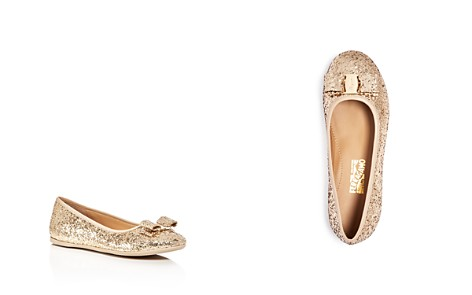 Salvatore Ferragamo Girls' Tess Glitter Ballet Flats - Toddler, Little Kid - Bloomingdale's_2