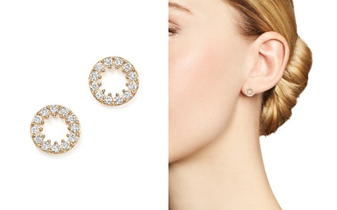 Diamond Circle Stud Earrings in 14K Yellow Gold, .35 ct. t.w. - 100% Exclusive - Bloomingdale's_2