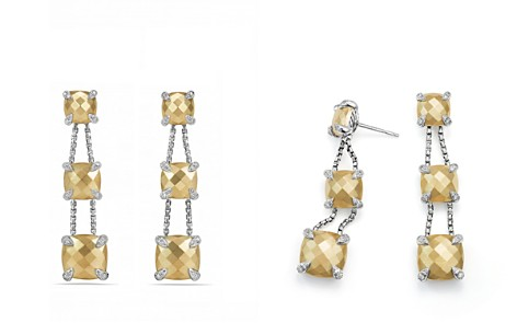David Yurman Châtelaine Linear Chain Earrings with 18K Gold and Diamonds - Bloomingdale's_2