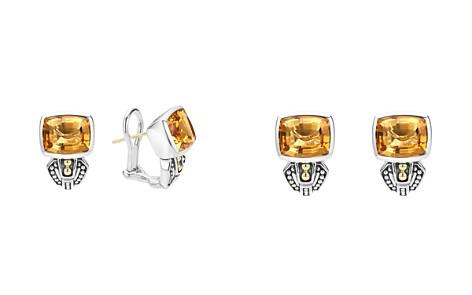 LAGOS 18K Gold and Sterling Silver Caviar Color Citrine Huggie Drop Earrings - Bloomingdale's_2