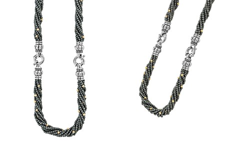 LAGOS 18K Gold and Sterling Silver Caviar Icon Hematite Beaded Multi Strand Convertible Bracelet and Necklace - Bloomingdale's_2