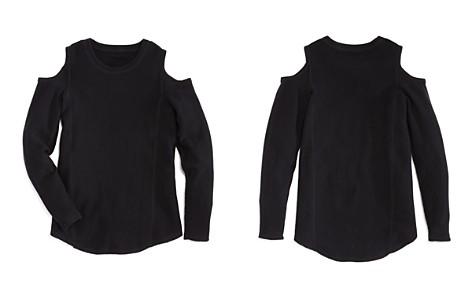 AQUA Girls' Cold-Shoulder Cashmere Sweater - Big Kid - Bloomingdale's_2
