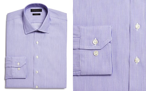 The Men's Store at Bloomingdale's Woven Stripe Slim Fit Dress Shirt - 100% Exclusive_2