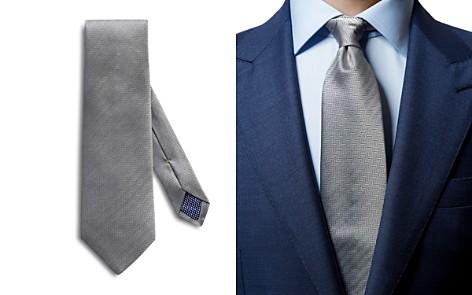 Eton Herringbone Solid Classic Tie - Bloomingdale's_2