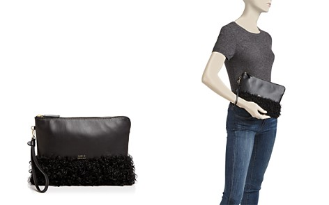 Alice.D Shearling and Leather Clutch - Bloomingdale's_2