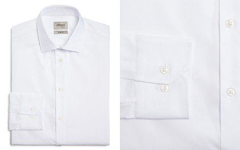 Armani Collezioni Micro Stripe Textured Classic Fit Dress Shirt - Bloomingdale's_2