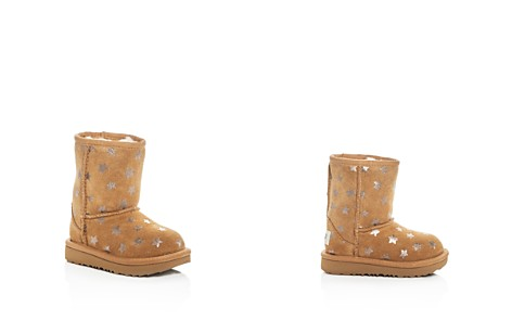 UGG® Girls' Classic Short II Stars Suede Boots - Walker, Toddler - Bloomingdale's_2