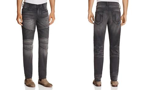 True Religion Geno Moto Dark Rebel Race Straight Fit Jeans in Washed Black - Bloomingdale's_2