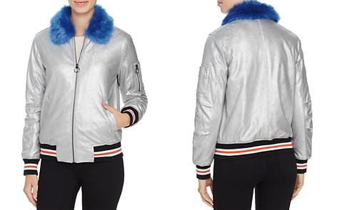 Louise Paris Metallic Puffer Bomber Jacket - 100% Exclusive - Bloomingdale's_2