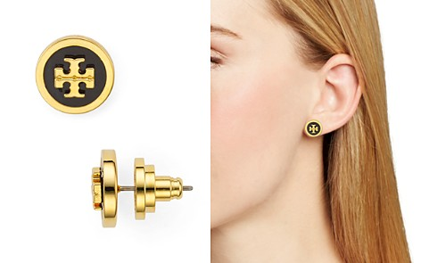 Tory Burch Raised Logo Stud Earrings - Bloomingdale's_2