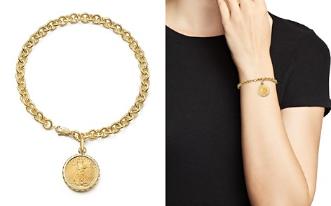 Coin Charm Bracelet in 14K Yellow Gold - 100% Exclusive - Bloomingdale's_2