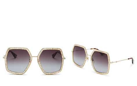Gucci Oversized Square Sunglasses, 56mm - Bloomingdale's_2