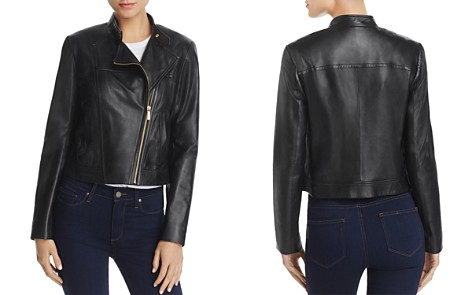 MICHAEL Michael Kors Leather Moto Jacket - Bloomingdale's_2