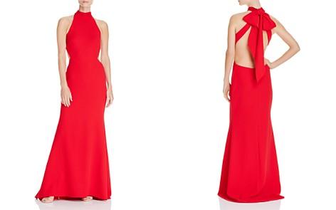 Avery G Tie-Back Crepe Halter Gown - Bloomingdale's_2