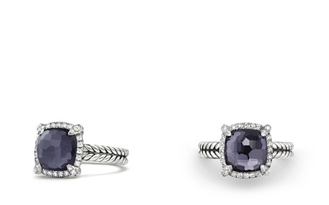 David Yurman Châtelaine Pavé Bezel Ring with Black Orchid and Diamonds - Bloomingdale's_2