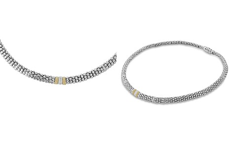 """LAGOS 18K Gold and Sterling Silver Diamond Lux Necklace, 16"""" - Bloomingdale's_2"""