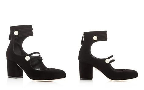 Isa Tapia Women's Marina Suede Ankle Strap Block Heel Pumps - 100% Exclusive - Bloomingdale's_2