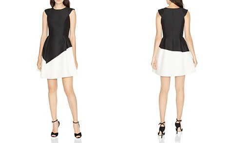 HALSTON HERITAGE Color-Blocked Fit-and-Flare Dress - Bloomingdale's_2