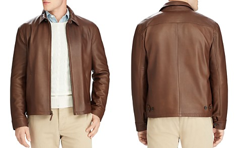 Polo Ralph Lauren Maxwell Lambskin Leather Zip Jacket - Bloomingdale's_2