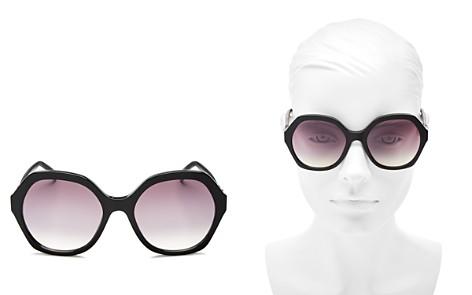 Fendi Women's Mirrored Oversized Round Sunglasses, 56mm - Bloomingdale's_2