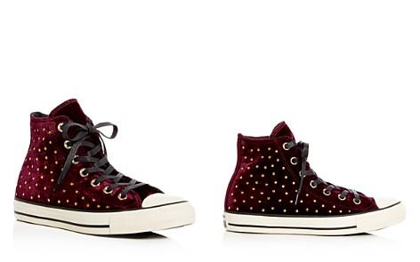 Converse Women's Chuck Taylor Embellished Velvet High Top Sneakers - Bloomingdale's_2