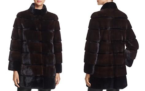 Maximilian Furs Stand Collar Kopenhagen Mink Fur Coat - 100% Exclusive - Bloomingdale's_2
