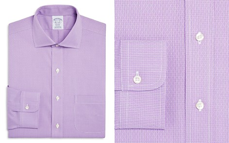 Brooks Brothers Regent Diamond Weave Micro Houndstooth Classic Fit Dress Shirt - Bloomingdale's_2