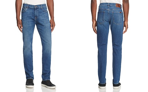 7 For All Mankind Adrien Scout Slim Straight Fit Jeans in Medium Blue - Bloomingdale's_2
