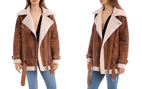 Avec Les Filles Oversized Faux Shearling Moto Jacket - Bloomingdale's_2
