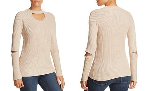 Design History Zip Elbow Choker Sweater - Bloomingdale's_2