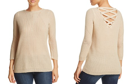 Design History Lace-Up Sweater - Bloomingdale's_2