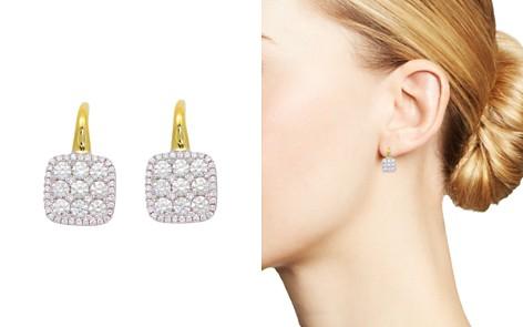 Frederic Sage Diamond Medium Firenze Cushion Earrings in 18K Yellow & White Gold - Bloomingdale's_2